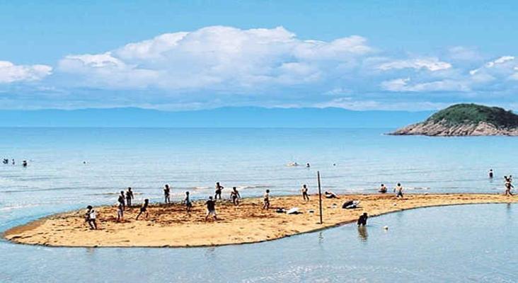 北仑洋沙山海滨旅游景点风景