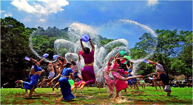 傣族泼水节旅游景点风景