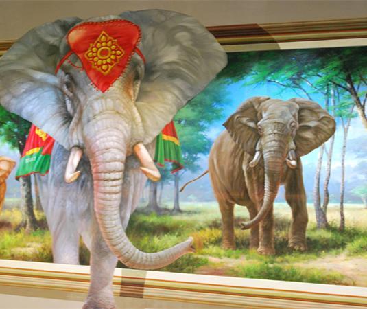 壁纸 大象 动物 狗 狗狗 535_450